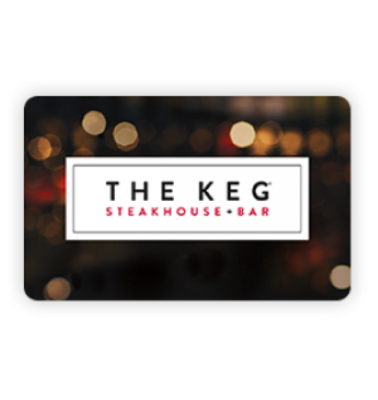 THE KEG GIFT CARD MONTLHY PRIZE